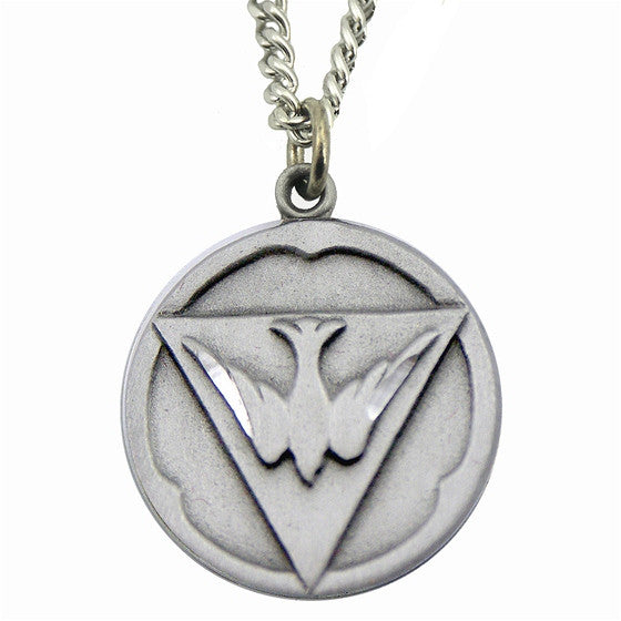 Holy Ghost Pewter Medal on Chain