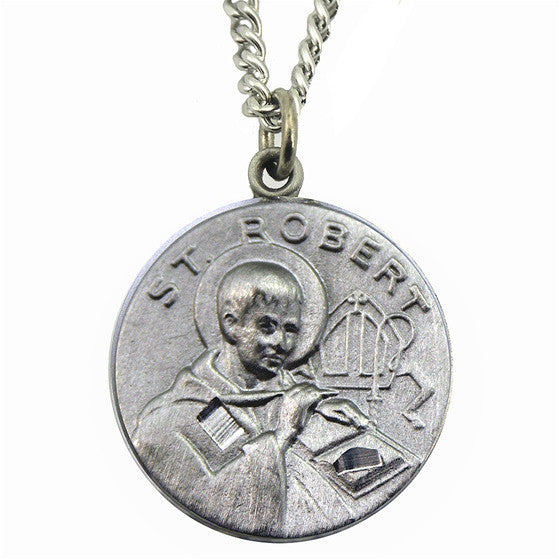 St. Robert Pewter Medal with Chain