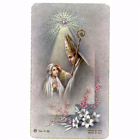 Girl Confirmation Holy Card