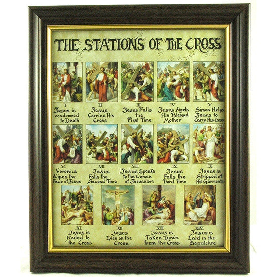 Stations of the Cross Framed