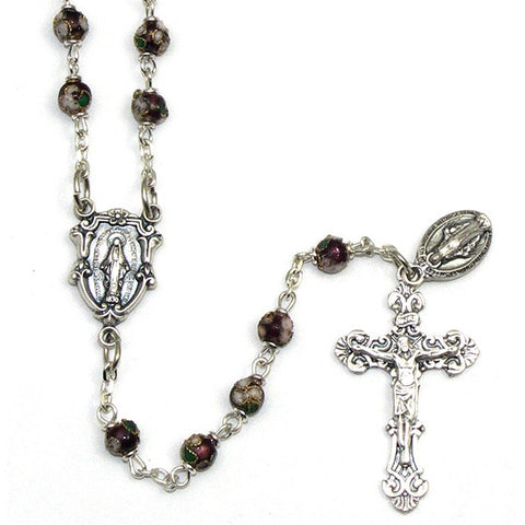 Amethyst Cloisonne Rosary