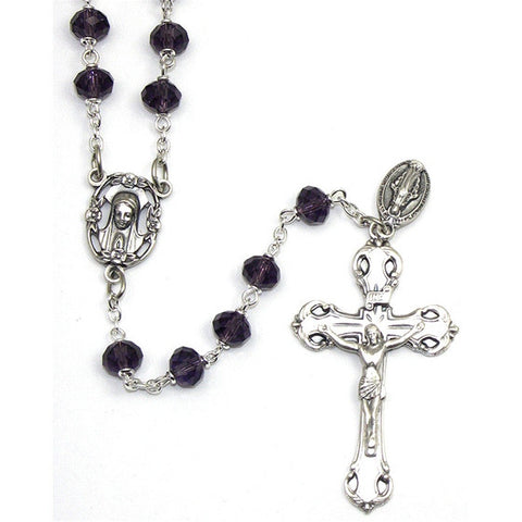 Amethyst Fatima Collection Rosary