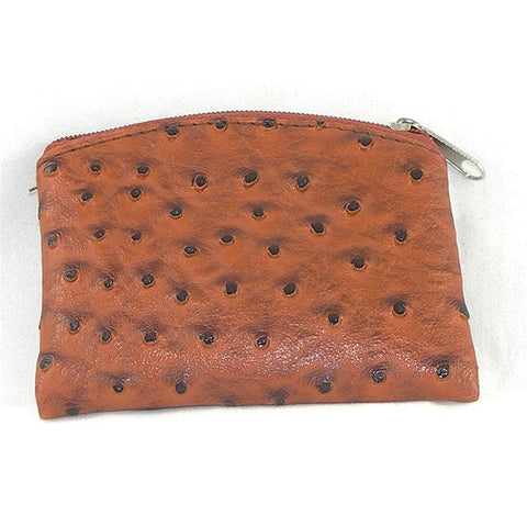 Ostrich Skin Rosary Case: Brown