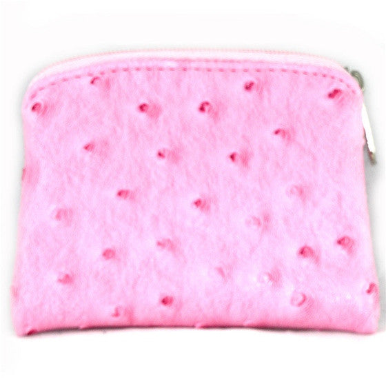 Pink Ostrich Skin Rosary Case