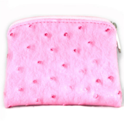Ostrich Skin Rosary Case: Pink