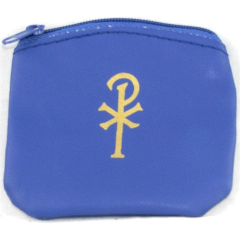 "Blue ""Pax"" Rosary Case"