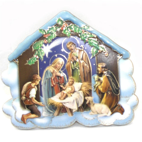 "4.5"" Nativity Plaque"