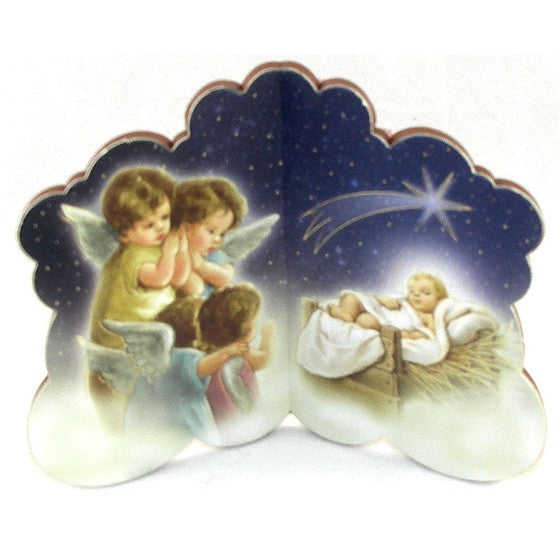 Angels Nativity Bi-Fold Plaque