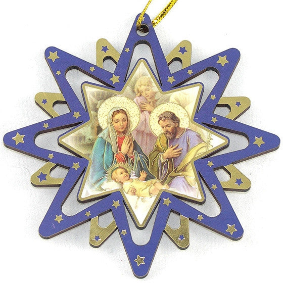 Star Ornament: JMJ Angel Above