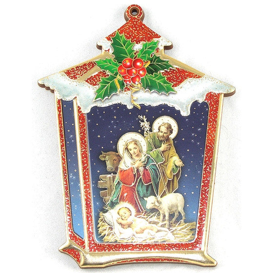 Nativity Lantern Plaque