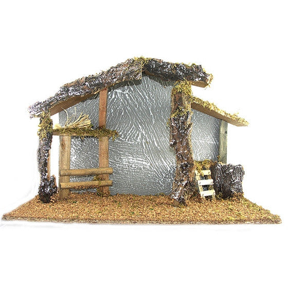 "Wood Stable for 6.5"" Nativity"