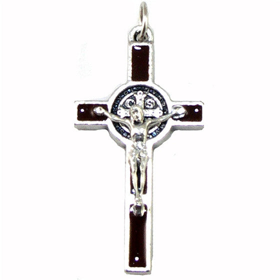 "St. Benedict Crucifix: 1½"" Brown"