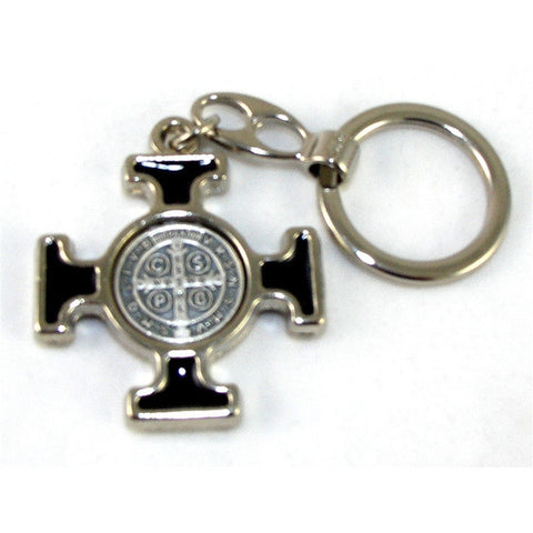 St. Benedict Key Chain: Black