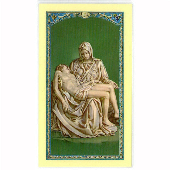 Pieta Laminated Holy Card