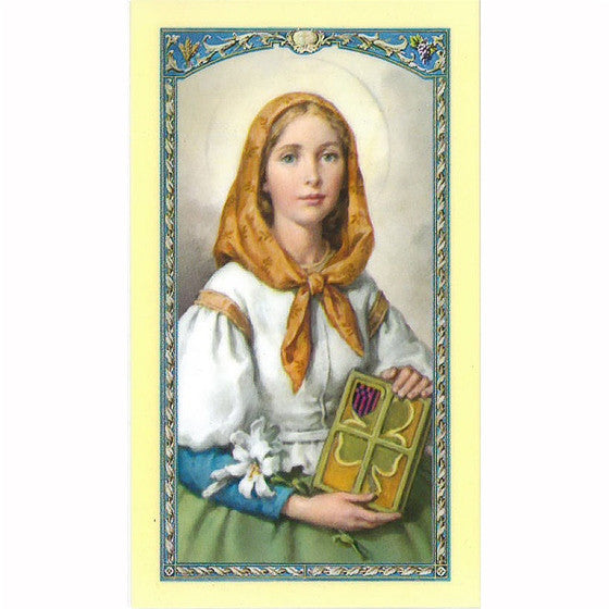 St. Dymphna Laminated Holy Card