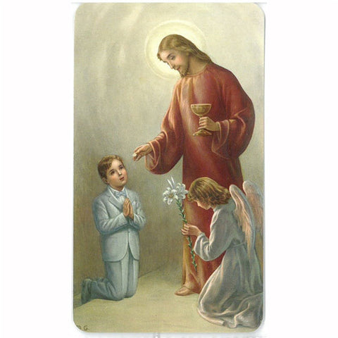 Boy First Communion Holy Card