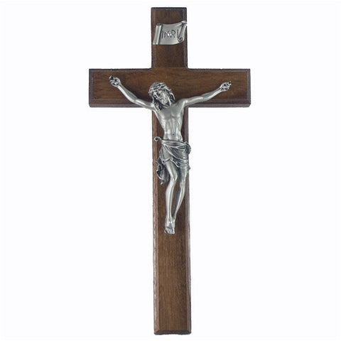 "10"" Walnut Crucifix"