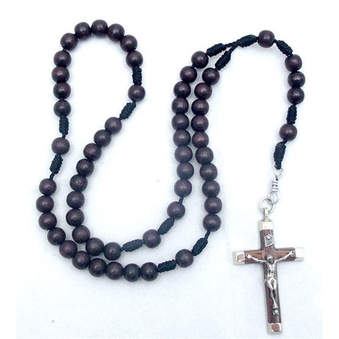 Brown Wood Deluxe Rosary