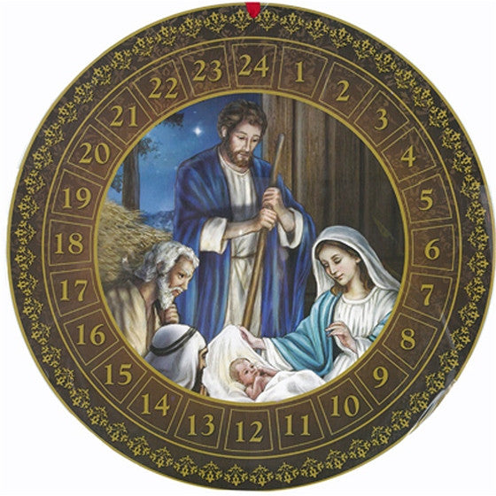Round Holy Family Advent Calendar