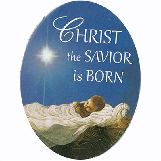 Savior is Born Oval Magnet