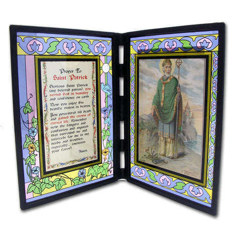St. Patrick Stained Glass Plaque