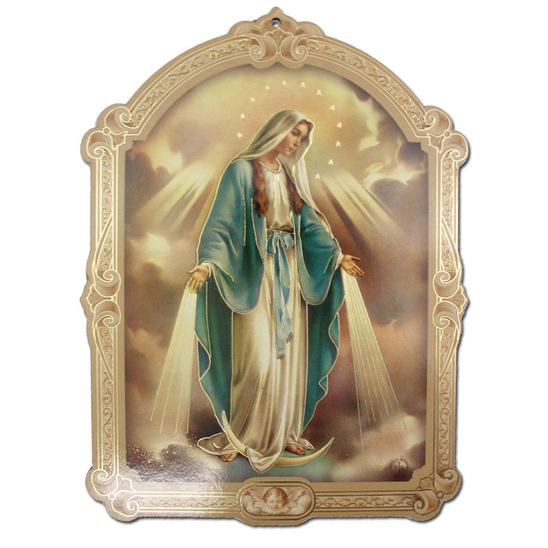 Our Lady of Grace Plaque: 9""