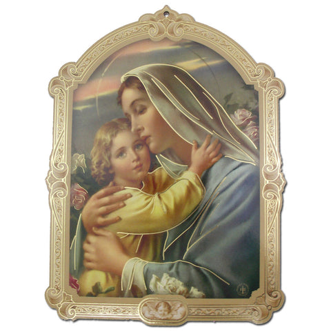 Madonna with Child Plaque: 9""