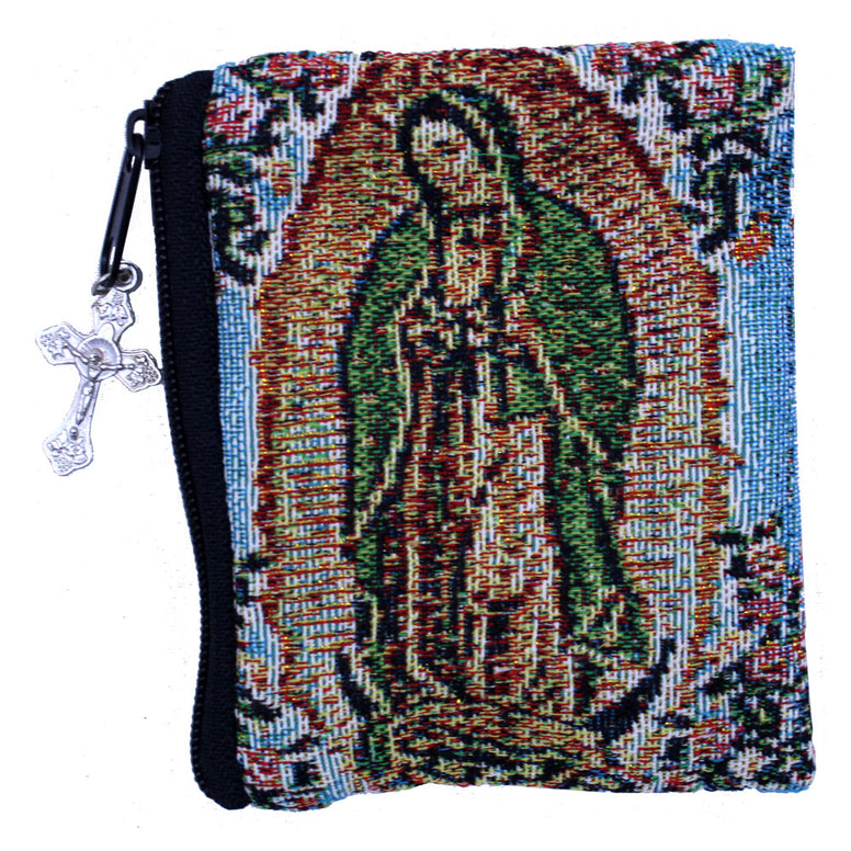 Our Lady of Guadalupe Woven Rosary Case