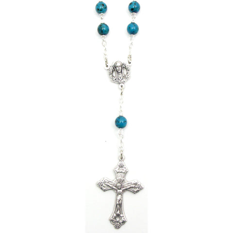 Turquoise Auto Rosary