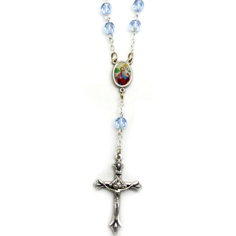 Light Blue Auto Rosary