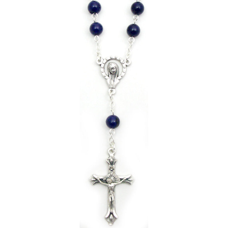 Dark Blue Auto Rosary