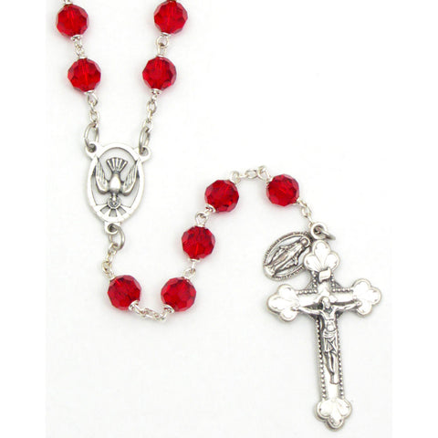 8mm Ruby Confirmation Rosary