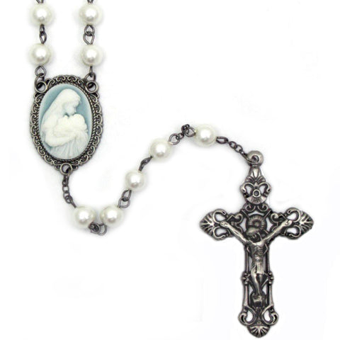 Mother's Kiss Cameo Rosary