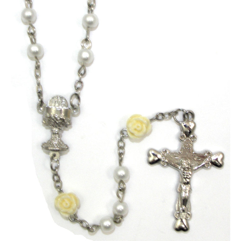 Pearl & Rose Communion Rosary