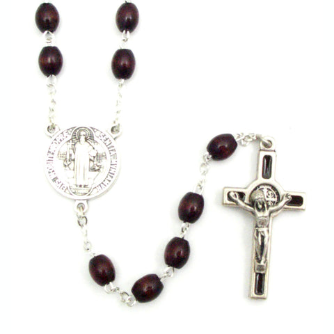 St. Benedict Wood Rosary
