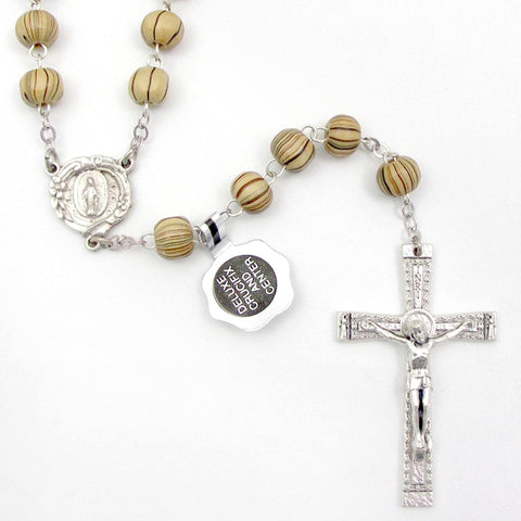 Light Brown Stripe Rosary