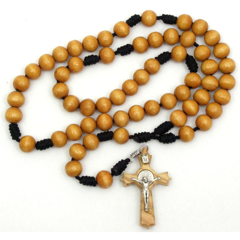 Large Light Brown Cord Rosary