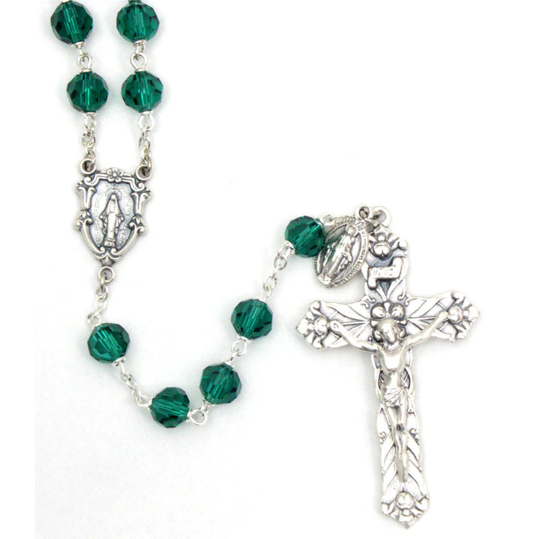 Emerald Vienna Collection Rosary: 8mm