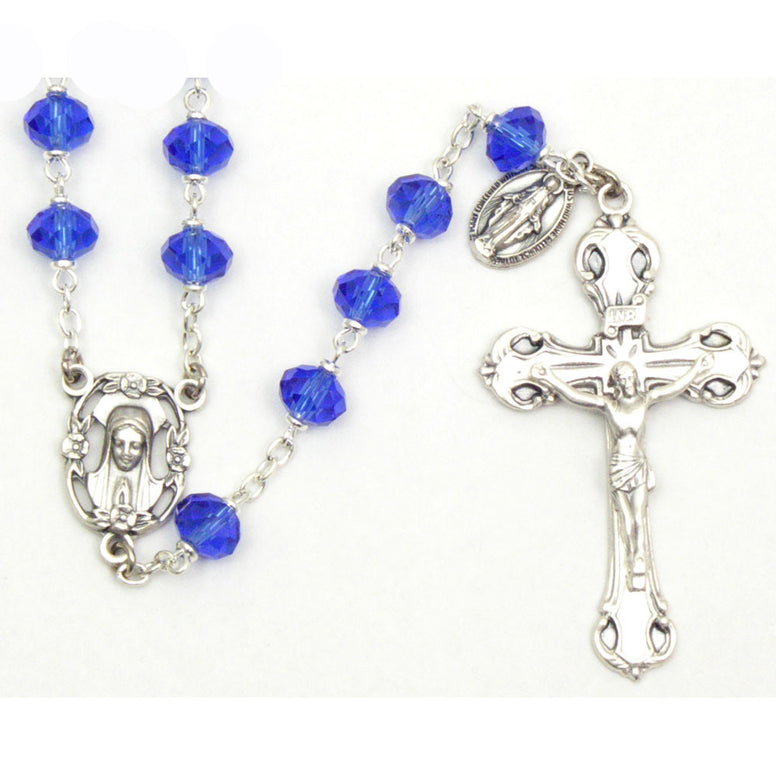 Fatima Collection Rosary: Sapphire
