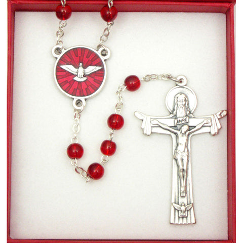 Holy Ghost Enameled Rosary