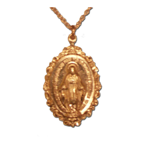 Rose Gold Scroll Border Miraculous Medal