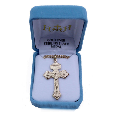 Pardon Crucifix: Gold Plated