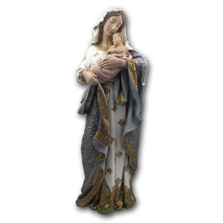 "23¼"" Virgin & Child Statue"