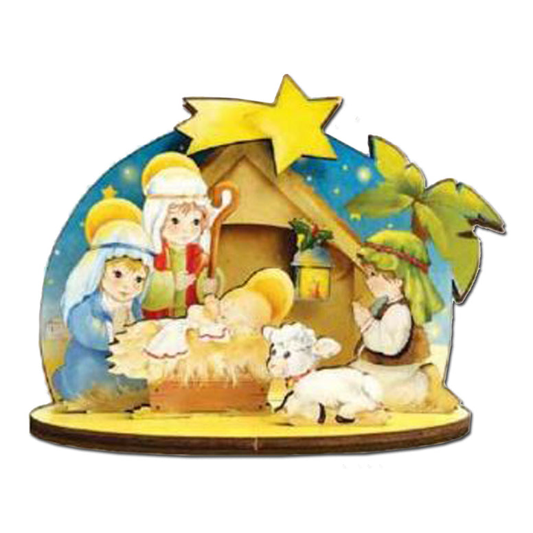 3-D Nativity: Star on Stable