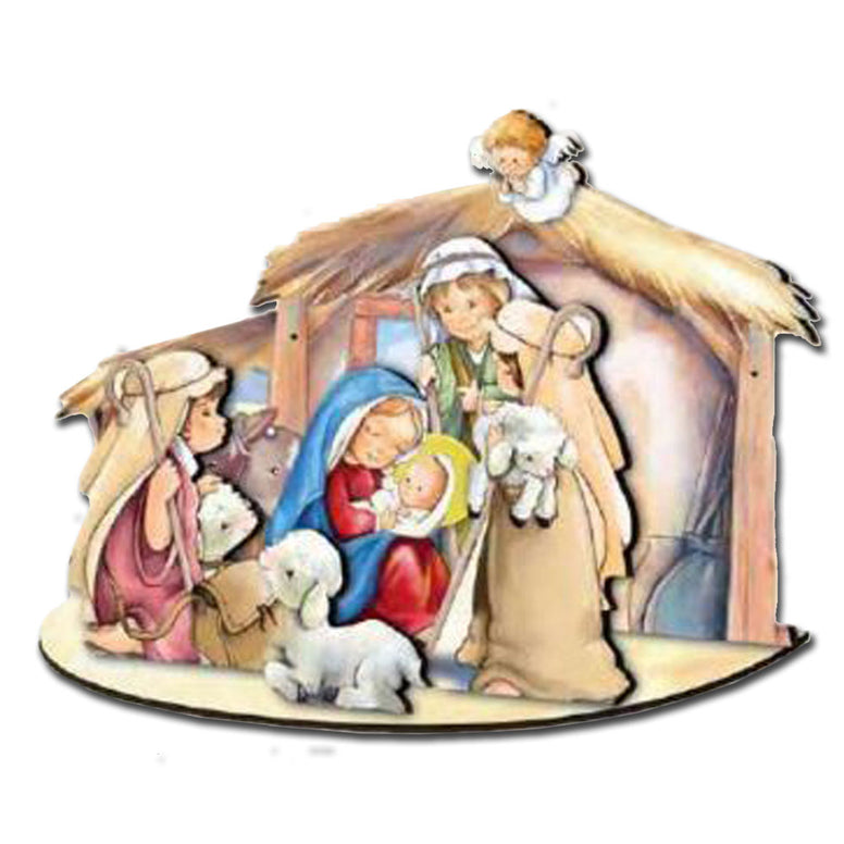 3-D Nativity: Angel on Stable