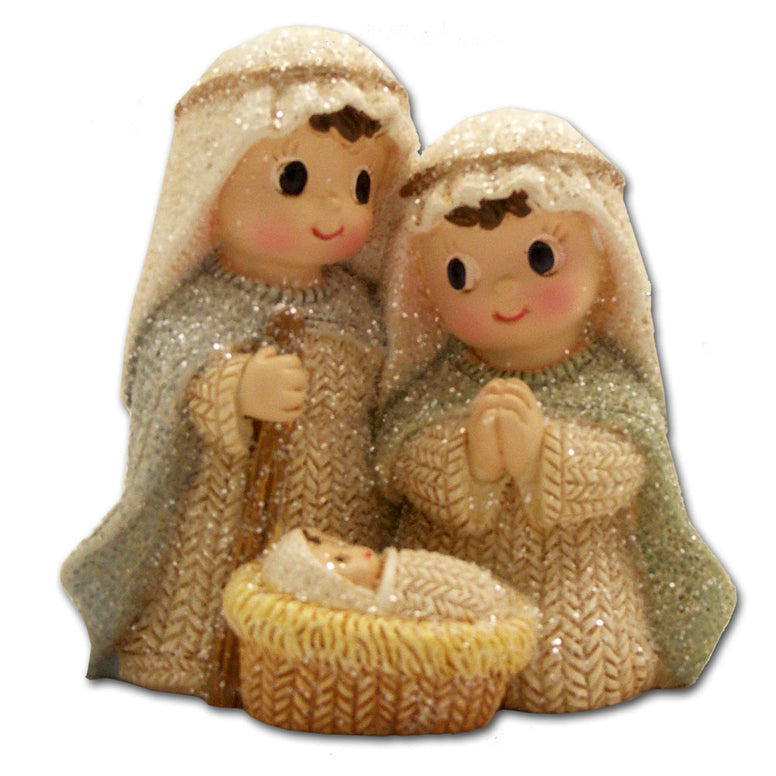 Holy Family Yarn Nativity