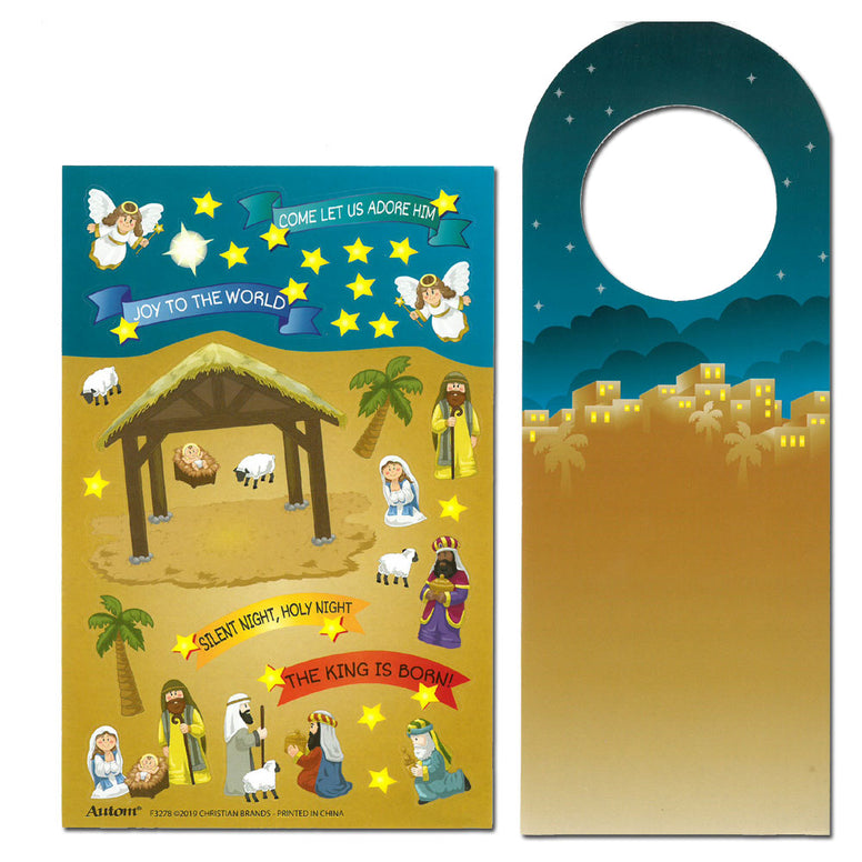 Nativity Sticker Door Hanger