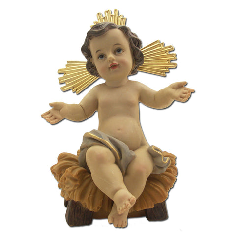 Infant Sitting in Manger: 7""