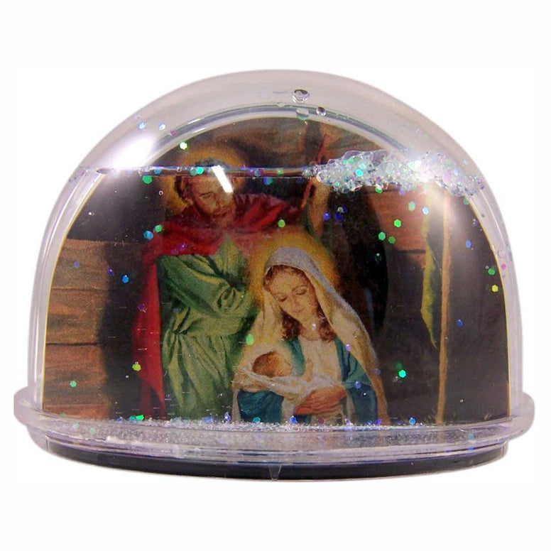 Nativity Glitter Water Dome