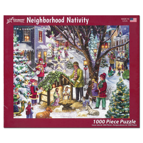Neighborhood Nativity Puzzle: 1000 pieces